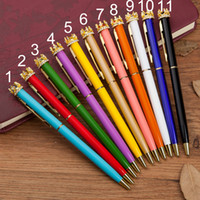 Fashion Gold Crown Color Shell Ballpoint Pen Black Ink Stude...