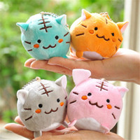 Cute Lovely Cat Soft Stuffed Plush Toy Keychain Keyring Baby