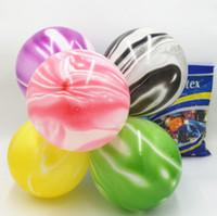 10 inç özellikli akik balon baskılı bulut topu düğün bar KTV dekoratif mermer hareli baskılı balon