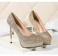 bridesmaid wedding shoes silver gold red glitter sequined po...