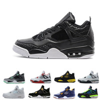 2018 4 Pure Money Basketball Shoes Mens 4s BRED Royalty Whit...