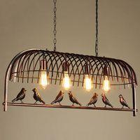 الإبداعي قفص الطيور مطعم أدى قلادة ضوء الحديد الفن شخصية بسيطة مقهى بار مكتب النمط الأمريكي قلادة الثريا الإضاءة