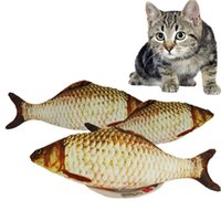 Cat Favor Fish Dog Toy plush Stuffed Fish Fish Shape Cat Toy...