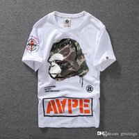 Amantes Summer Mens Cartoon Apes T -Camisas Fashion Crew Neck Short -Sleeve Classic Camo Printed Supply Co Male Tops Tees Cartton Casual Tees