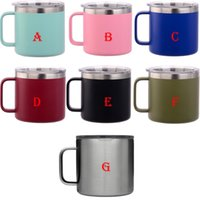 14oz Coffee Mugs Glitter Stainless Steel Tumbler with handle...