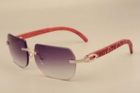 Venda directa de óculos de sol novos padrões esculpidos à mão, 8100906 moda personalizado naturais óculos de sol de madeira, tamanho: 56-18-135mm óculos de sol,