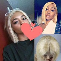 613 Wig Human Hair Bob Wigs Full Lace Blonde Wigs Can Be Dye...