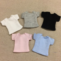 1PCS Blyth Doll Clothes White pink blue gray black Short T- s...