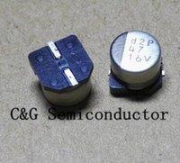200PCS 16V 47UF SMD 6x5mm chip de aluminio electrolítico condensador