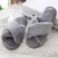 Winter Women Home Slippers with Faux Fur Fashion Warm Shoes ...