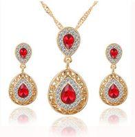 Conjuntos de brincos de colar mais barato diamante Conjuntos de jóias de casamento conjuntos de jóias de festa de casamento presentes muitos estilos pode escolher 470