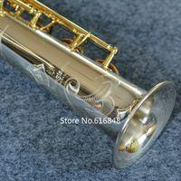ياناجيساوا S-9030 سوبرانو ب (ب) النحاس ساكسفون الفضة مطلي أنبوب الذهب مفتاح ساكس رائعة نحت مع القضية ، المعبرة مجانية