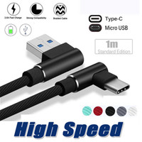 Braided 90 Degree Right Angle Type C Micro USB Fast Data Syn...