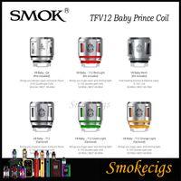 SMOK TFV12 Bebê Príncipe Bobina TFV8 bebê besta New Bobinas Q4 T12 malha bobina T12 Luz bobina mais densas nuvens 100% Origina