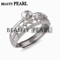 5 Pieces Ring Blanks Semi Mount Cubic Zirconia 925 Sterling ...