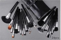 Factory Direct Free Shipping New Makeup Brush 24pcs LEATHER ...