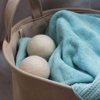 Doğal Yün Keçe Kurutma Topları 4-7 CM Çamaşır Topları Kullanımlık Toksik Olmayan Kumaş Yumuşatıcı Kuruma Süresi Beyaz Renk Topları Azaltır