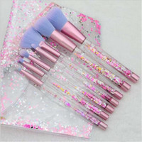 7pc Funkeln-Kristall Make-up-Pinsel-Set Diamond Pro Highlighter Pinsel Concealer Make up-Pinsel-Geschenk DHL-freies Verschiffen