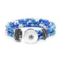 15 Style Élastique Chaîne Élastique Noosa Snap Bouton Élasticité Bracelet Fit 18mm Snap Boutons Bijoux coloré Corde Snap Bracelet