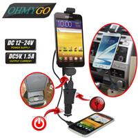 Universal Car Phone holder cargador usb encendedor de cigarrillos Soporte de montaje para Samsung Galaxy S2 S3 S4 's Motorala Lenovo LG, ZTE, TCL, Xiaomi