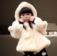 2016 новый осень зима девушки искусственного меха пальто милый утолщаются теплый дети верхняя одежда Куртки костюм 2~9 возраст младенцы принцесса пальто