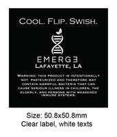Étiquettes transparentes imprimant des stratifiés mats ou brillants Étiquettes transparentes personnalisées pour des verres de bouteilles Étiquettes autocollantes transparentes pour des emballages cosmétiques