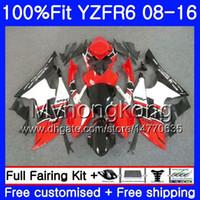 Впрыск для YAMAHA YZF600 YZFR6 08 09 10 11 12 YZF-600 234HM.13 YZF 600 R 6 YZF-R6 YZF R6 2008 2009 2010 2011 2012 Заводской обтекатель красный