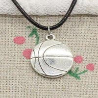 New Fashion Tibetan Silver Pendant double sided basketball 1...