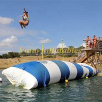 7x3 متر نفخ فقاعة الماء القفز أكوا الهواء فقاعة 0.9 ملليمتر pvc نفخ المياه الترامبولين القفز وسادة شحن مجاني