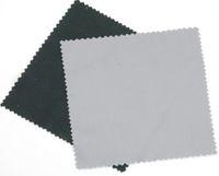 للبيع 170GSM 12 * 16cm أسود ستوكات قطعة قماش للتنظيف عدسة الأنظف للنظارات / الكاميرا / الهاتف في منعرج شكل متعرج 12 الألوان المتاحة