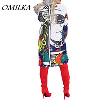 OMILKA 2018 Spring Women Lonf Sleeve Cartoon Printed Denim S...