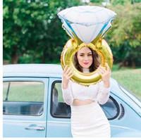 43 인치 큰 풍선 다이아몬드 반지 호일 풍선 풍선 결혼식 훈장 헬륨 공기 풍선 이벤트 파티 용품