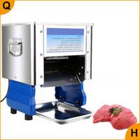 satılık Qihang_top ticari et kesme makinesi / elektrikli koyun eti dilimleyici makine tavuk eti domuz kesici