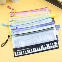Милый карандаш сумка держатель ручки домой Всякая всячина сумка музыкальное пианино клавиатура пенал школьные принадлежности новый ZA5813