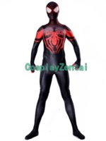 Miles Morales spiderman Costume 3D Shade Cosplay Zentai Suit...