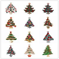 New Fashion Rhinestone Crystal Brooch Pin Jewelry For Women Vintage Silver  Gold Alloy Christmas Tree Brooches Mix Designs DB 3a941319ed22