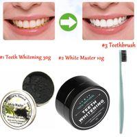 Naturali e Organici Carbone Attivo Sbiancamento Dentale Carbone Dentifricio Sbiancante Denti Polvere Spazzolino Ultra Soft Strumenti dentista