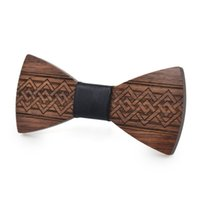 Fashion Handmade wooden Carved bow tie Distinctive bow tie f...
