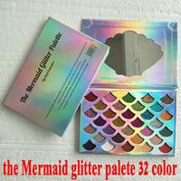 Cleof Kozmetik Denizkızı Glitter Paleti pırıltılı Göz Makyajı ile 32 renk Göz farı Paleti ayna