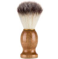 Maniglia barbiere di rasatura dei capelli del rasoio Spazzole Natural Wood barba pennello per gli uomini del migliore regalo Barbiere strumento uomini regalo Barbiere strumento Mens alimentazione