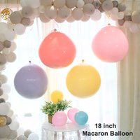 18inch Big Sweet Macaron Balloon Candy Color Pure Latex Ball...