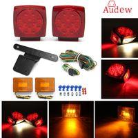 2Pcs Car LED Stop Light + 2Pcs Side Light Turn Indicatore di coda StaffaHarness Submersible Truck Trailer SQ Kit luce LED