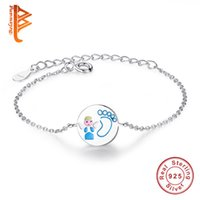 BELAWANG 925 Sterling Silver Lovely Angel & Paw Print Girl C...