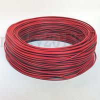 100 meter 2pin verlengdraad 18AWG 20AWG 22AWG rode zwarte kabelconnector voor led striplicht