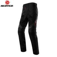 Pantaloni Estate Nuovo SCOYCO Motociclo Moto Racing pantaloni di tessuto Oxford P027-2 traspirante resistente all'usura