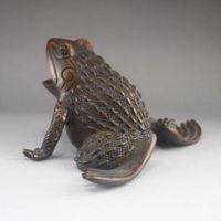 절묘한 중국 청동 동상 - 개구리