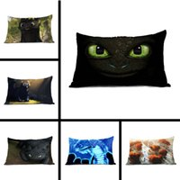 Come addestrare il tuo drago Occhi di Toothless Nero Vintage decorativo Top Qualtiy Chic Throw Pillow Case Zippered