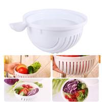 Prático 60-Seconds Salad Maker Cortador de Frutas Fruit Lavador de Legumes Salada Cortador Fácil Fabricante de Salada Frutas Legumes Chopper Bowl Cozinha NB