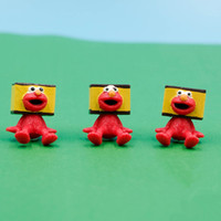 60 pz / lotto 2.2 cm Sesame Street elmo Action Figure Collection Modello elmo fai da te giocattoli subminiatura