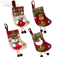 Mini Christmas Stocking Christmas Decoration for Home Plaid ...